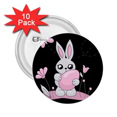 Easter Bunny  2 25  Buttons (10 Pack)