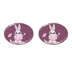 Easter Bunny  Cufflinks (oval)