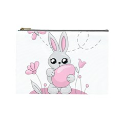Easter Bunny  Cosmetic Bag (large)