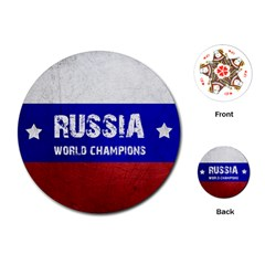 Football World Cup Playing Cards (round)