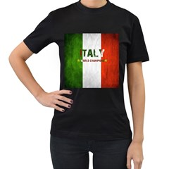 Football World Cup Women s T Shirt (black) (two Sided)
