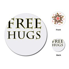 Freehugs Playing Cards (round)