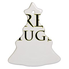 Freehugs Christmas Tree Ornament (two Sides)