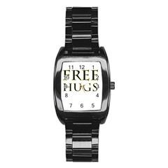 Freehugs Stainless Steel Barrel Watch
