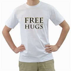 Freehugs Men s T Shirt (white) (two Sided)