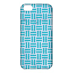 Woven1 White Marble & Turquoise Colored Pencil (r) Apple Iphone 5c Hardshell Case