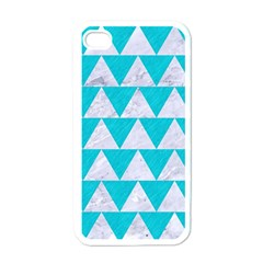 Triangle2 White Marble & Turquoise Colored Pencil Apple Iphone 4 Case (white)