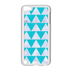 Triangle2 White Marble & Turquoise Colored Pencil Apple Ipod Touch 5 Case (white)