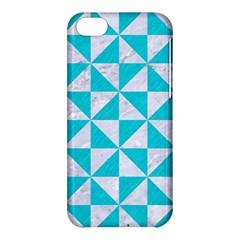 Triangle1 White Marble & Turquoise Colored Pencil Apple Iphone 5c Hardshell Case