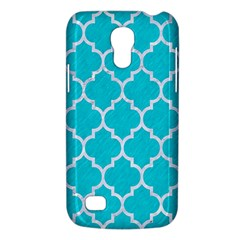 Tile1 White Marble & Turquoise Colored Pencil Galaxy S4 Mini