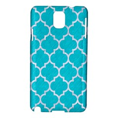Tile1 White Marble & Turquoise Colored Pencil Samsung Galaxy Note 3 N9005 Hardshell Case