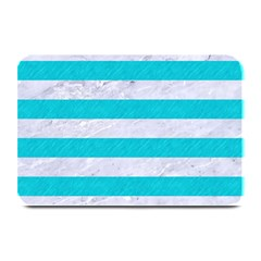 Stripes2white Marble & Turquoise Colored Pencil Plate Mats