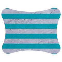 Stripes2white Marble & Turquoise Colored Pencil Jigsaw Puzzle Photo Stand (bow)