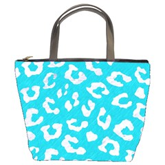 Skin5 White Marble & Turquoise Colored Pencil (r) Bucket Bags