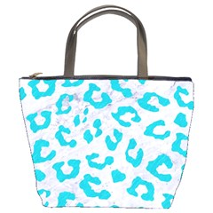 Skin5 White Marble & Turquoise Colored Pencil Bucket Bags