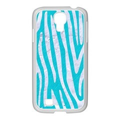 Skin4 White Marble & Turquoise Colored Pencil (r) Samsung Galaxy S4 I9500/ I9505 Case (white)