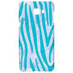 Skin4 White Marble & Turquoise Colored Pencil Samsung C9 Pro Hardshell Case