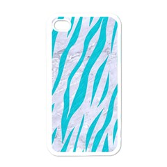 Skin3 White Marble & Turquoise Colored Pencil (r) Apple Iphone 4 Case (white)