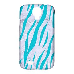 Skin3 White Marble & Turquoise Colored Pencil (r) Samsung Galaxy S4 Classic Hardshell Case (pc+silicone)