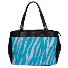Skin3 White Marble & Turquoise Colored Pencil Office Handbags