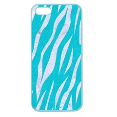 Skin3 White Marble & Turquoise Colored Pencil Apple Seamless Iphone 5 Case (color)