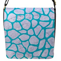 Skin1 White Marble & Turquoise Colored Pencil Flap Messenger Bag (s)