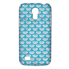 Scales3 White Marble & Turquoise Colored Pencil (r) Galaxy S4 Mini