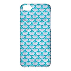Scales3 White Marble & Turquoise Colored Pencil (r) Apple Iphone 5c Hardshell Case