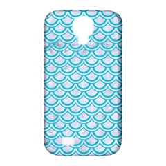 Scales2 White Marble & Turquoise Colored Pencil (r) Samsung Galaxy S4 Classic Hardshell Case (pc+silicone)