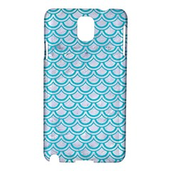 Scales2 White Marble & Turquoise Colored Pencil (r) Samsung Galaxy Note 3 N9005 Hardshell Case