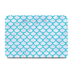 Scales1 White Marble & Turquoise Colored Pencil (r) Plate Mats