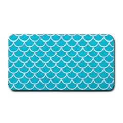 Scales1 White Marble & Turquoise Colored Pencil Medium Bar Mats
