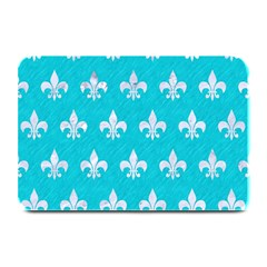 Royal1 White Marble & Turquoise Colored Pencil (r) Plate Mats