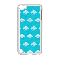 Royal1 White Marble & Turquoise Colored Pencil (r) Apple Ipod Touch 5 Case (white)