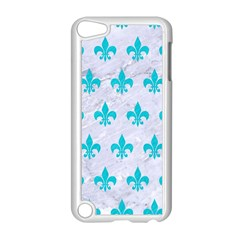Royal1 White Marble & Turquoise Colored Pencil Apple Ipod Touch 5 Case (white)