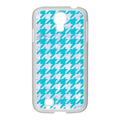 Houndstooth1 White Marble & Turquoise Colored Pencil Samsung Galaxy S4 I9500/ I9505 Case (white)