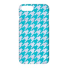 Houndstooth1 White Marble & Turquoise Colored Pencil Apple Iphone 7 Plus Hardshell Case