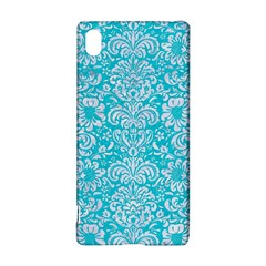 Damask2 White Marble & Turquoise Colored Pencil Sony Xperia Z3+