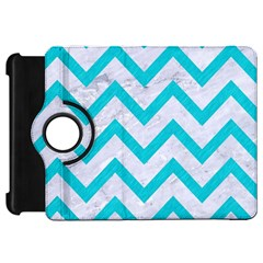 Chevron9 White Marble & Turquoise Colored Pencil (r) Kindle Fire Hd 7