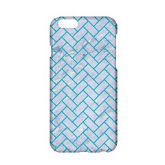 Brick2 White Marble & Turquoise Colored Pencil (r) Apple Iphone 6/6s Hardshell Case