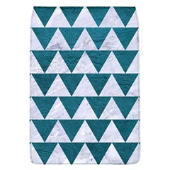 Triangle2 White Marble & Teal Leather Flap Covers (l)