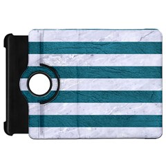 Stripes2white Marble & Teal Leather Kindle Fire Hd 7
