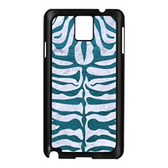 Skin2 White Marble & Teal Leather (r) Samsung Galaxy Note 3 N9005 Case (black)