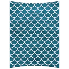 Scales1 White Marble & Teal Leather Back Support Cushion