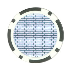 Brick1 White Marble & Teal Leather (r) Poker Chip Card Guard (10 Pack)