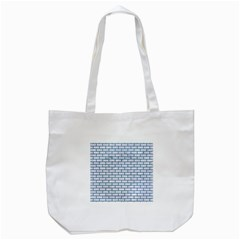 Brick1 White Marble & Teal Leather (r) Tote Bag (white)