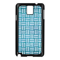 Woven1 White Marble & Teal Brushed Metal Samsung Galaxy Note 3 N9005 Case (black)