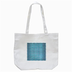 Woven1 White Marble & Teal Brushed Metal Tote Bag (white)