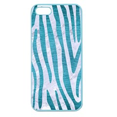 Skin4 White Marble & Teal Brushed Metal Apple Seamless Iphone 5 Case (color)