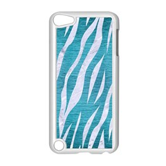 Skin3 White Marble & Teal Brushed Metal Apple Ipod Touch 5 Case (white)